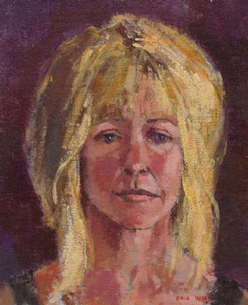 Eric Ward Original Oil Painting Portrait Of A Woman